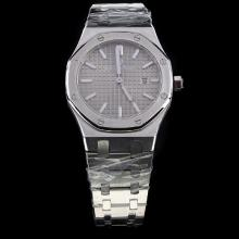 Audemars Piguet Royal Oak Stick Markers with Gray Dial S/S-Lady Size