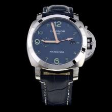 Panerai Luminor Working GMT Automatic with Blue Dial-Leather Strap