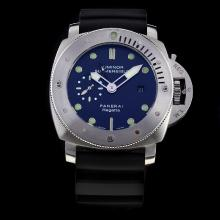 Panerai Luminor Submersible Working GMT Automatic with Black Dial-Rubber Strap