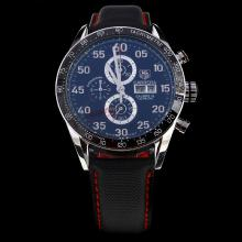 Tag Heuer Carrera Calibre 16 Working Chronograph Ceramic Bezel with Black Dial-Nylon Strap