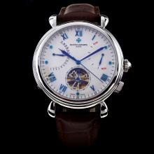 Vacheron Constantin Tourbillon Automatic White Dial with Blue Marking-18K Plated Gold Movement