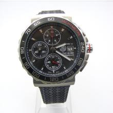 Tag Heuer Calibre 16 Working Chronograph Gray Dial with Stick Marking-Rubber Strap