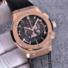 Hublot Big Bang Working Chronograph  Swiss Valjoux 7750 Movement  Rose Gold Case with Gray Dial-Black Strap