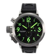 U-Boat FlightDeck 50mm Working Chronograph with Green Marking-Updated Version
