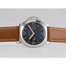 Panerai PAM203 Luminor 8 Days Unitas 6497 Movement with Black Sandwich Dial AR Coating