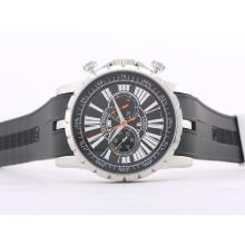 Roger Dubuis Excalibur Chrono Working Chronograph with Black Dial