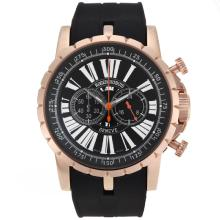 Roger Dubuis Excalibur Chrono Working Chronograph Rose Gold Case with Black Dial