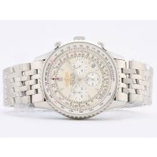 Breitling Navitimer Working Chronograph with White Dial Stick Marking-1