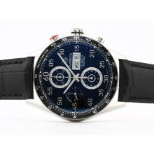 Tag Heuer Carrera Calibre 16 Chrono Swiss Valjoux 7750 Movement Black Dial Oversized 43mm New Edition-1