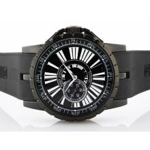 Roger Dubuis Excalibur Small Seconds Automatic PVD Case with Black Dial