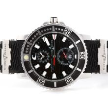 Ulysse Nardin Marine Automatic with Black Dial Rubber Strap-1