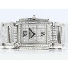 Patek Philippe Twenty-4 Hours Swiss ETA Movement with Full Diamond-Lady Size