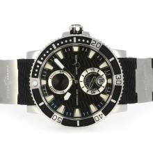 Ulysse Nardin Maxi Marine Diver Working Power Reserve Automatic with Black Dial and Bezel-Rubber Strap