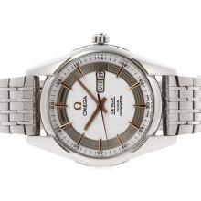 Omega Hour Vision Day-Date Automatic with White Dial S/S
