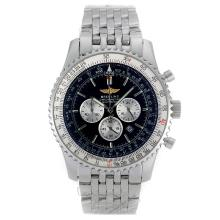 Breitling Navitimer Working Chronograph with Black Dial S/S-Oversized Version