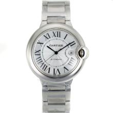 Cartier Ballon bleu de Cartier Swiss ETA 2824 Movement with White Dial S/S-1