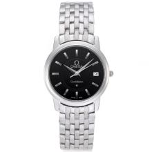 Omega Constellation Stick Markers with Black Dial S/S-Sapphire Glass