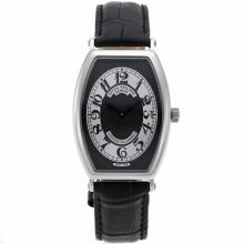 Patek Philippe Classic Swiss ETA Movement with Black Dial Leather Strap