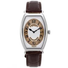 Patek Philippe Classic Swiss ETA Movement with White Dial-Leather Strap