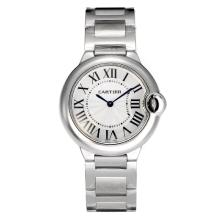 Cartier Ballon bleu de Cartier Swiss ETA Movement with White Dial S/S-1