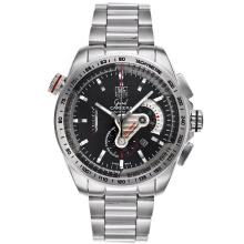 Tag Heuer Grand Carrera Calibre 36 Working Chronograph with Black Dial S/S(Gift Box is Included)