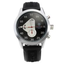 Tag Heuer Calibre 360 Automatic with Black Dial Rubber Strap