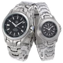 Tag Heuer Link 200 Meters with Black Dial S/S-Couple Watch