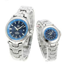 Tag Heuer Link 200 Meters with Blue Dial S/S-Couple Watch