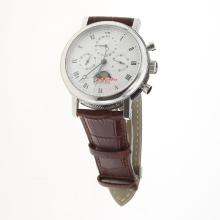 Breguet Ref.1775 Chronograph Lemania Movement with Moonphase-White Dial 1