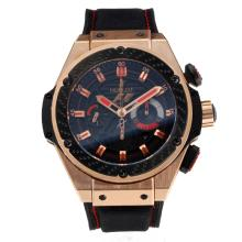 Hublot Big Bang Chronograph Swiss Valjoux 7750 Movement Rose Gold Case with Black Dial F1 Edition