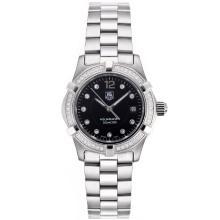 Tag Heuer Aquaracer Swiss ETA Movement Diamond Bezel and Markers with Black Dial S/S-1