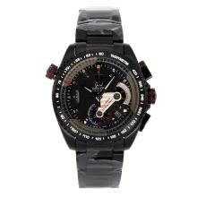 Tag Heuer Grand Carrera Calibre 36 Working Chronograph Full PVD with Black Dial